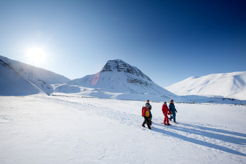 Hikers In The Arctic