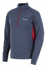 Berghaus Mens Tech Tee LS Zip Baselayer Front