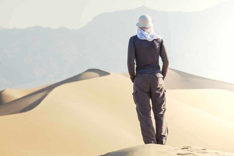 Hiker In The Desert