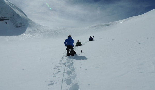 Roped Up On Gran Paradiso