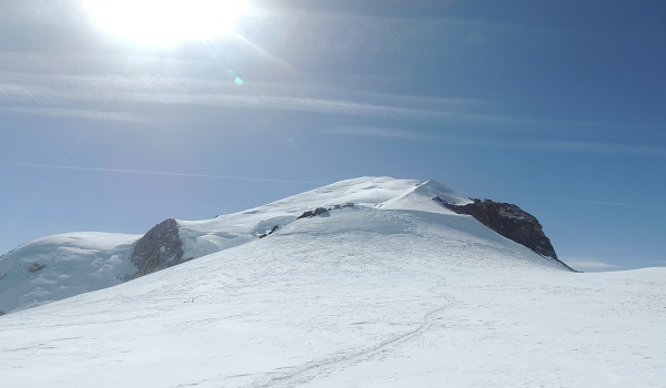 The Hot Sun On Mont Blanc