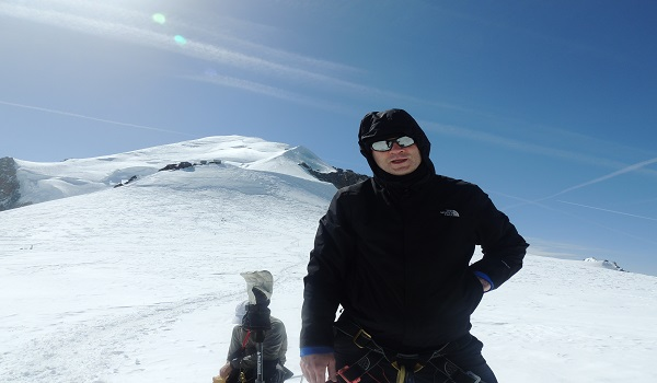 Approaching The Summit Of Mont Blanc