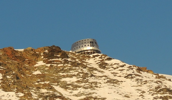 The Rocky Face Leading To The Gouter Hut