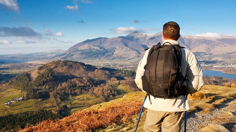 Man With Day Pack Hiking