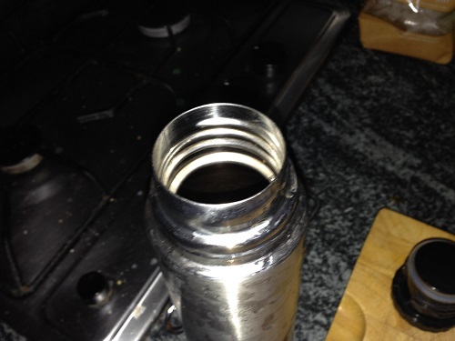 how to properly clean a flask