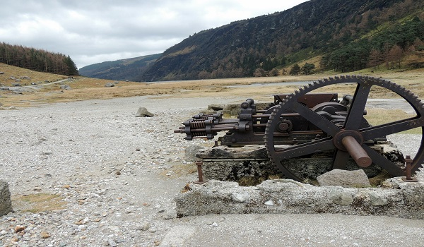 Old Mining Equipment At Glendalough