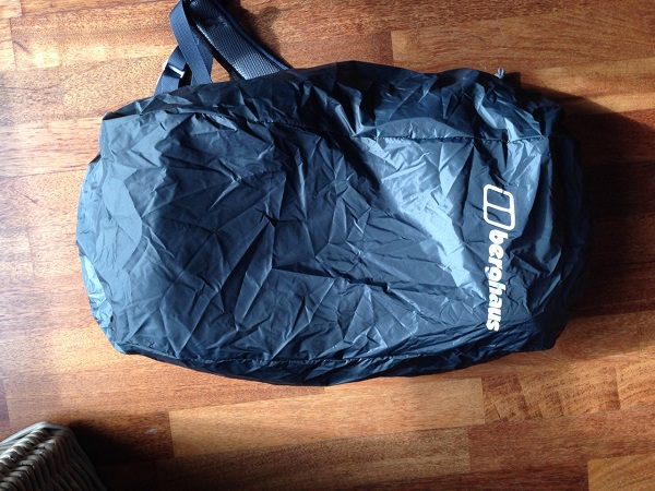 Day Pack With Rain Cover On