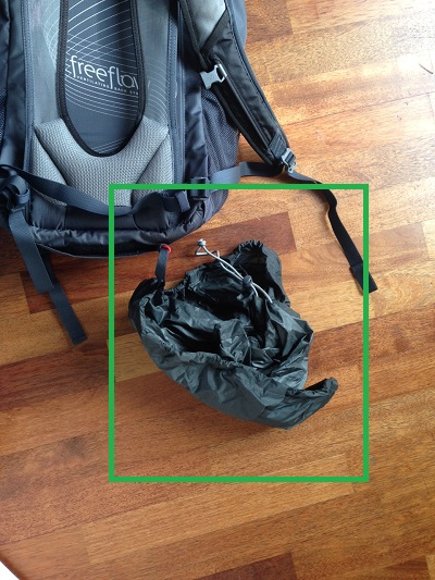 Day Pack with Rain Cover Out