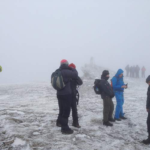 Hikers In Cold Weather