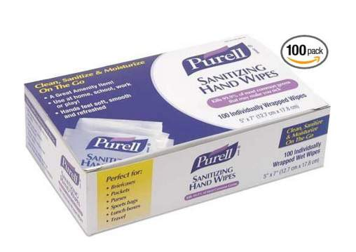 Purell 9022 10 Sanitizing Hand Wipes