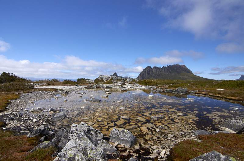 Cradle Mountain in the Cradle Mountain-Lake St Clair National Park Australia
