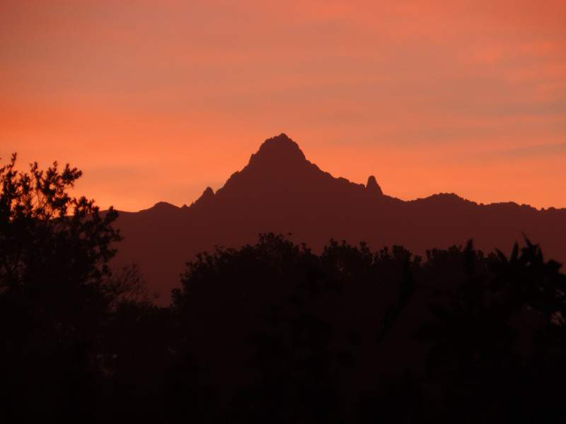 Dawn Over Mount Kenya