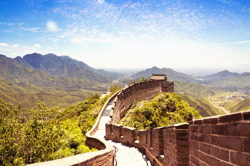 Beautiful View of the Great Wall of China