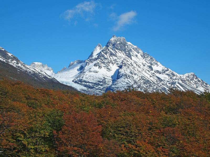 Torres del Paine in fall Chile