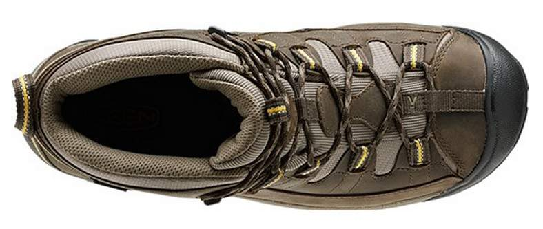 KEEN Mens Targhee II Mid Waterproof Hiking Boot Collar