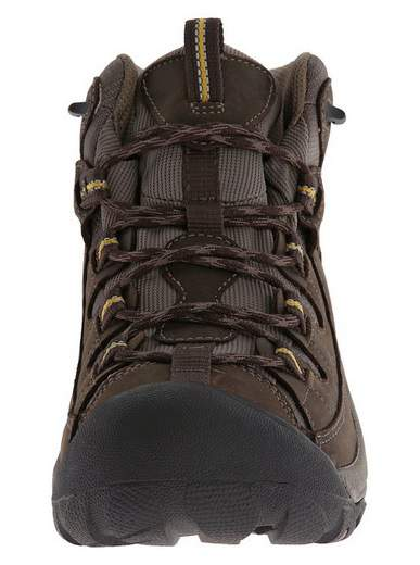 KEEN Mens Targhee II Mid Waterproof Hiking Boot Front Profile