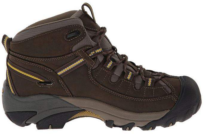 KEEN Mens Targhee II Mid Waterproof Hiking Boot Inside Profile