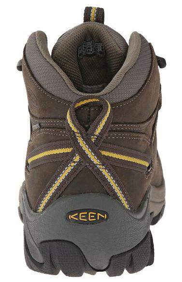 KEEN Mens Targhee II Mid Waterproof Hiking Boot Rear Profile