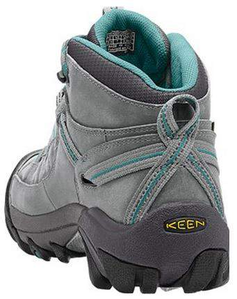KEEN Womens Targhee II Mid Waterproof Hiking Boot Rear Profile