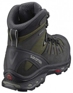 Salomon Mens Quest 4D 2 GTX Hiking Boots Rear Profile