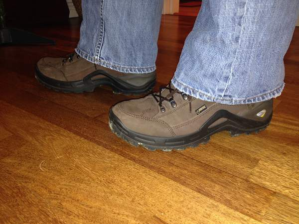 Colm Wearing Lowa Lo Hiking Shoes