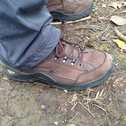 Lowa Mens Renegade II GTX Lo Hiking Shoe On the Trail Side Shot
