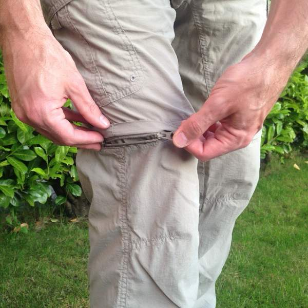 Zip Conversion of Hiking Pants Into Shorts