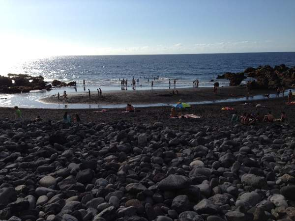 Volcanic Black Sand Beach On Tenerife