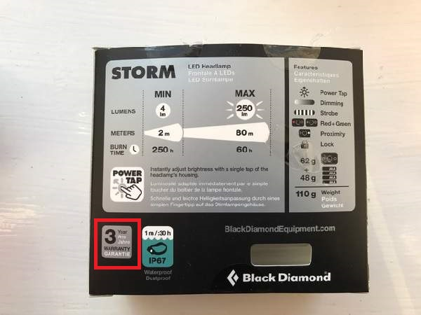 Black Diamond Storm Headlamp Box
