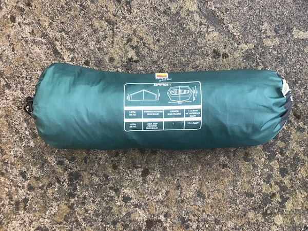 Wild Country Zephyros 1 Tent in its Pack