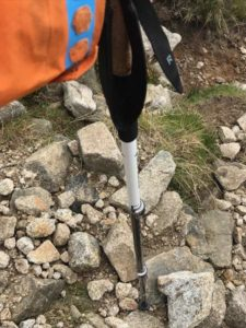Alpine Carbon Cork Trekking Poles out in the Field 2
