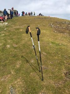 Alpine Carbon Cork Trekking Poles out in the Field